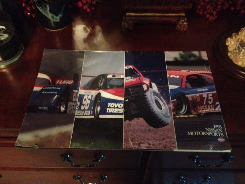 1993 Nissan Motorsports calendar