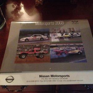 2003 Nissan Motorsports calendar