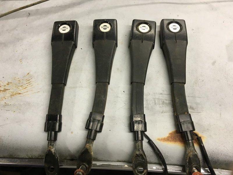 280z seat belt receivers