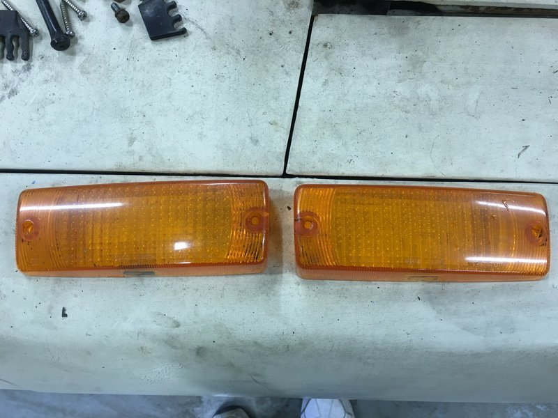 front turn signal lens