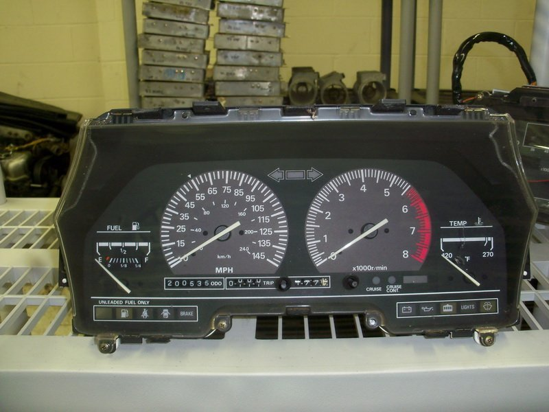 white face instrument cluster