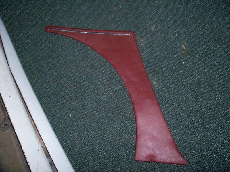 burgundy inner rear dog leg panel behind door left
