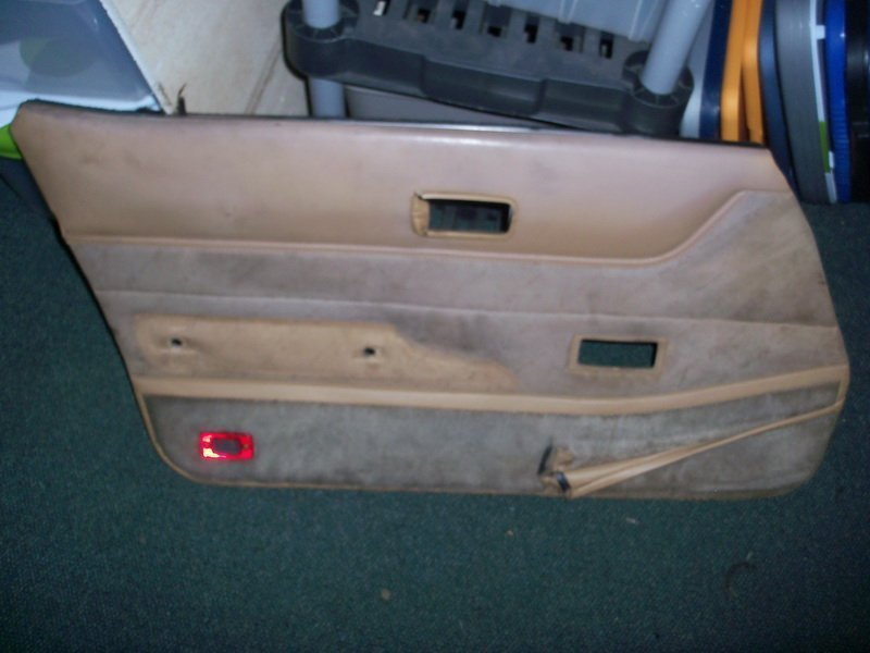 driver side inner door panel tan '83 turbo