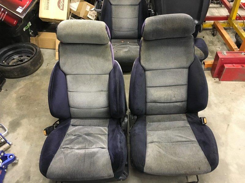 Black And Grey Cloth Seats Vintage Z Parts