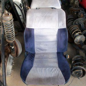 blue/grey cloth seats