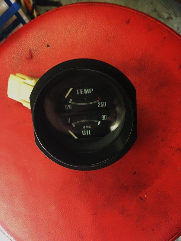 '77'-78 coolant temperature- oil pressure gauge