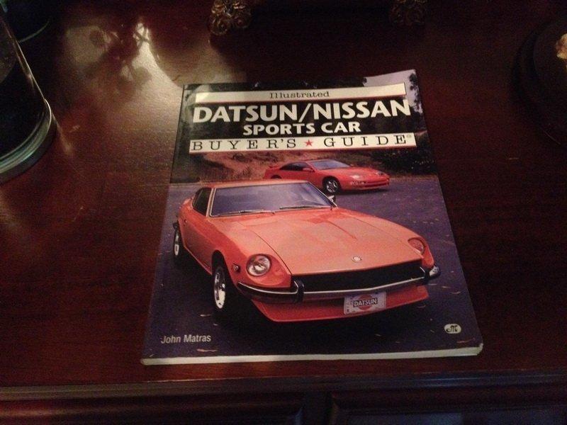 Datsun/Nisan sports car buyers guide book